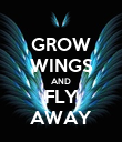GROW WINGS AND FLY AWAY - Personalised Poster large