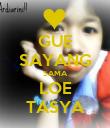 GUE SAYANG SAMA LOE TASYA - Personalised Poster large