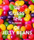 GUESS THE NUMBER  OF JELLY BEANS - Personalised Poster large