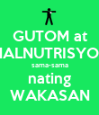 GUTOM at MALNUTRISYON sama-sama nating WAKASAN - Personalised Poster large