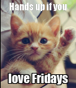 Hands up if you love Fridays - Personalised Large Wall Decal