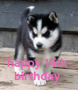 happy 14th  birthday  - Personalised Poster large