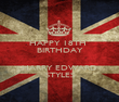 HAPPY 18TH  BIRTHDAY  HARRY EDWARD STYLES - Personalised Poster large