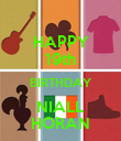 HAPPY 19th BIRTHDAY NIALL HORAN - Personalised Poster large