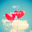 HAPPY 8 YEAR  ANNIVERSARY I LOVE YOU MAI - Personalised Poster large