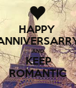 HAPPY  ANNIVERSARRY AND KEEP ROMANTIC - Personalised Poster large