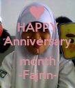 HAPPY Anniversary 1 month -Fajrin- - Personalised Poster large