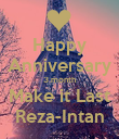 Happy Anniversary 3 month Make it Last Reza-Intan - Personalised Poster large