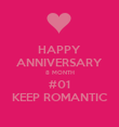 HAPPY ANNIVERSARY 8 MONTH #01 KEEP ROMANTIC - Personalised Poster large