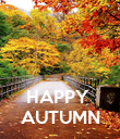 HAPPY  AUTUMN - Personalised Poster large