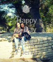 Happy B-Day My Best Friend  - Personalised Poster large