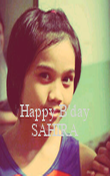 Happy B'day SAHIRA - Personalised Poster large