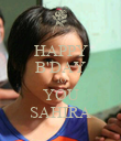 HAPPY B'DAY TO YOU SAHIRA - Personalised Poster large