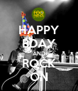 HAPPY BDAY AND ROCK ON - Personalised Poster large
