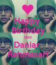 Happy  Birthday 16th Daniar  Rahmasari - Personalised Poster large
