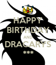 HAPPY BIRTHDAY AND DRACARYS *** - Personalised Poster large