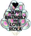 HAPPY BIRTHDAY AND LOVE RIZKA - Personalised Poster large