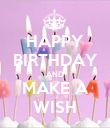HAPPY BIRTHDAY AND MAKE A WISH - Personalised Poster large