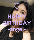 HAPPY BIRTHDAY -angel-  - Personalised Poster large