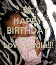 HAPPY BIRTHDAY Aunty Lima Love Nadia!!!  - Personalised Poster large