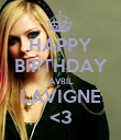 HAPPY BIRTHDAY AVRIL LAVIGNE <3 - Personalised Poster large