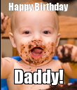 Happy Birthday Daddy! - Personalised Poster large