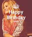 Happy Birthday Demi   - Personalised Poster large