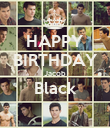 HAPPY BIRTHDAY Jacob Black  - Personalised Poster large