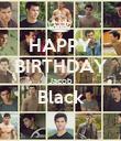 HAPPY BIRTHDAY Jacob Black  - Personalised Poster large
