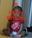 Happy Birthday Kamile <3  - Personalised Poster large