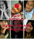 HAPPY BIRTHDAY KE 17thn A.PEPY VEBRIANTI Donggosyg :D - Personalised Poster large