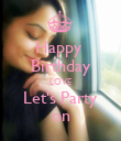 Happy  Birthday LOVE Let's Party on - Personalised Poster large