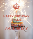 HAPPY BIRTHDAY SYLLIE AND HAVE AN AMAZING DAY - Personalised Poster large