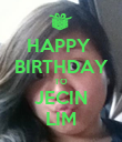 HAPPY  BIRTHDAY TO JECIN LIM - Personalised Poster large