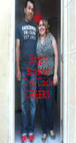 Happy Birthday To My Dear Uncle CHEERS! - Personalised Poster large