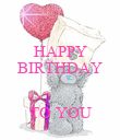 HAPPY BIRTHDAY   TO YOU - Personalised Poster large