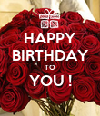 HAPPY BIRTHDAY TO YOU !  - Personalised Poster large