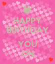 HAPPY BIRTHDAY TO YOU ON - Personalised Poster large