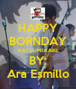 HAPPY BORNDAY KATSUMI KABE BY: Ara Esmillo - Personalised Poster large