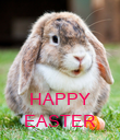 HAPPY EASTER - Personalised Poster large