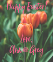 Happy Easter!     Love,  Ann & Greg - Personalised Poster large