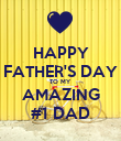 HAPPY FATHER'S DAY TO MY AMAZING #1 DAD - Personalised Poster large