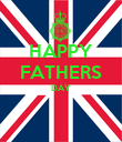 HAPPY FATHERS DAY   - Personalised Poster large