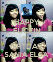 HAPPY FUCKIN 15th BIRTDAY SANIA ELSA - Personalised Poster large