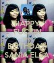 HAPPY FUCKIN 15th BIRTHDAY SANIA ELSA - Personalised Poster large