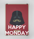 HAPPY MONDAY - Personalised Poster large