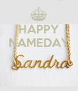 HAPPY NAMEDAY    - Personalised Poster large