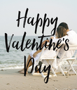 Happy Valentine's Day - Personalised Poster large