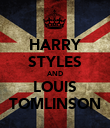 HARRY STYLES AND LOUIS TOMLINSON - Personalised Poster large