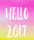 Hello 2017 - Personalised Poster large